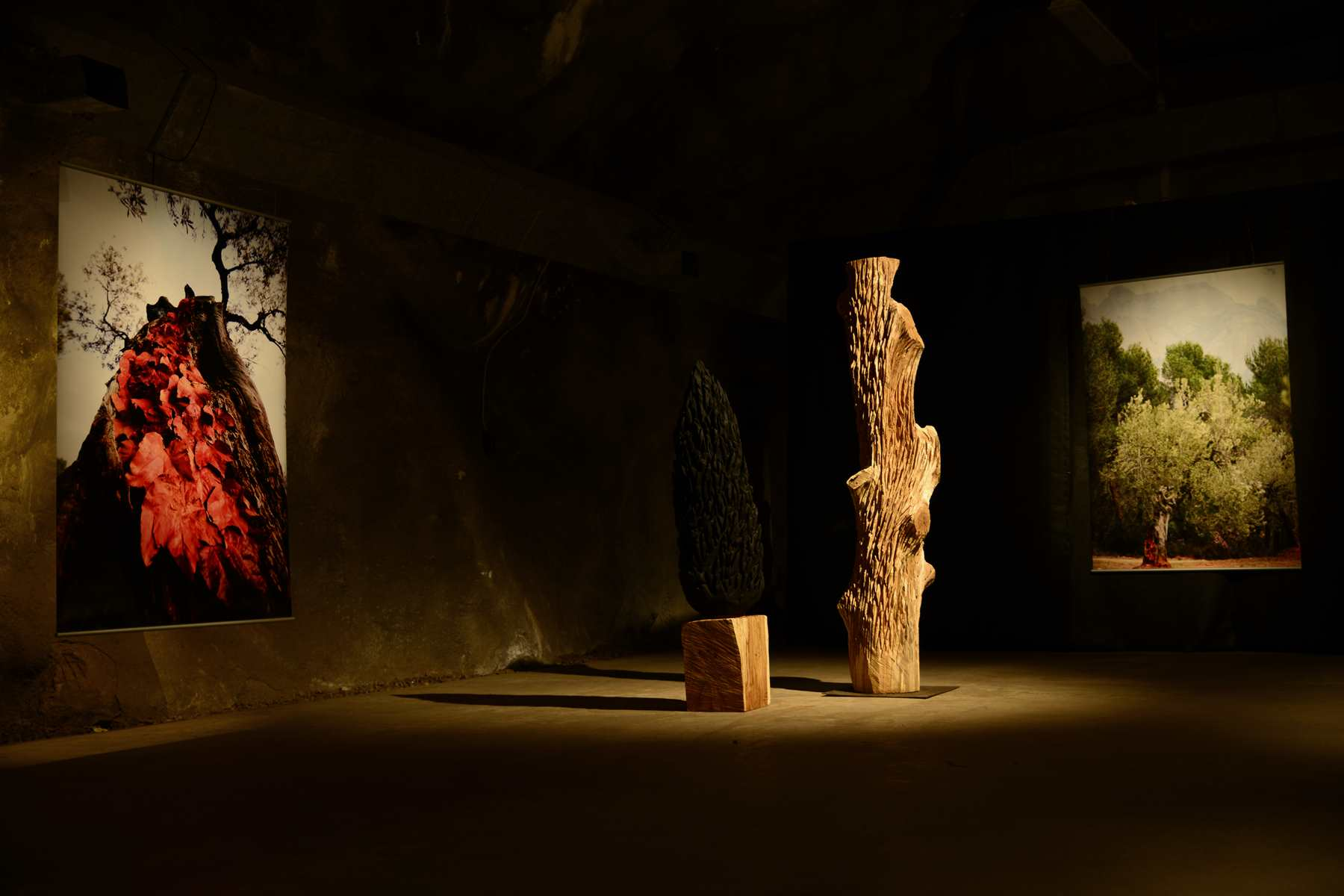 THE ETERNAL MOMENT, One night art show in a Swedish mountain shelter, 2013. Exhibition by Karl Chilcott.