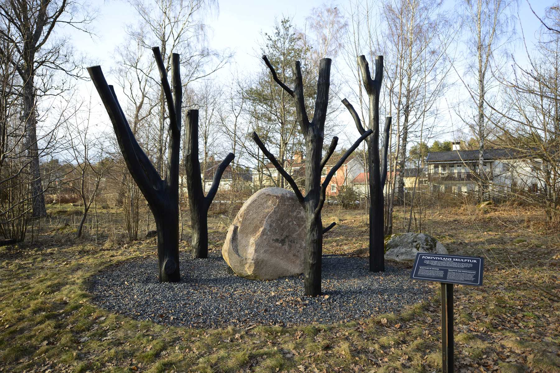 Despair - Astrid Lindgrens Näs, Vimmerby, Sweden 2015. Commission by Karl Chilcott.