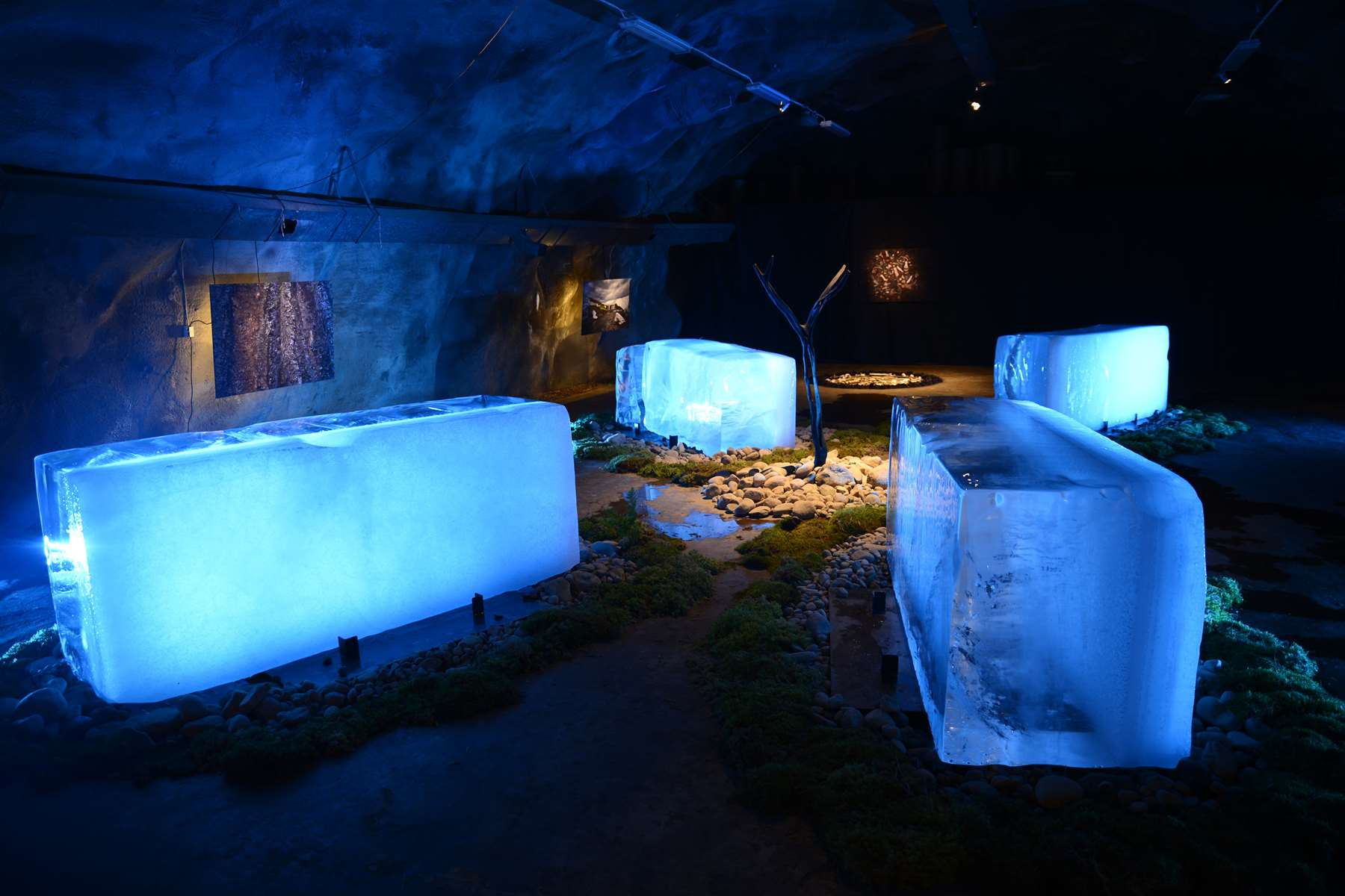 ICE AGE, One night art show in a Swedish mountain shelter, 2014. Exhibition by Karl Chilcott.